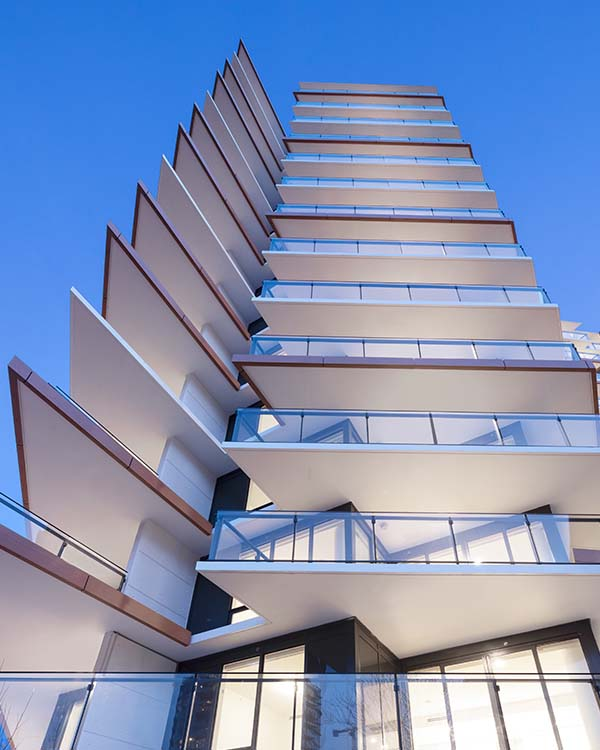 Semiah, Wind-shaped Tower, white rock residential tower, modern architecture, Vancouver