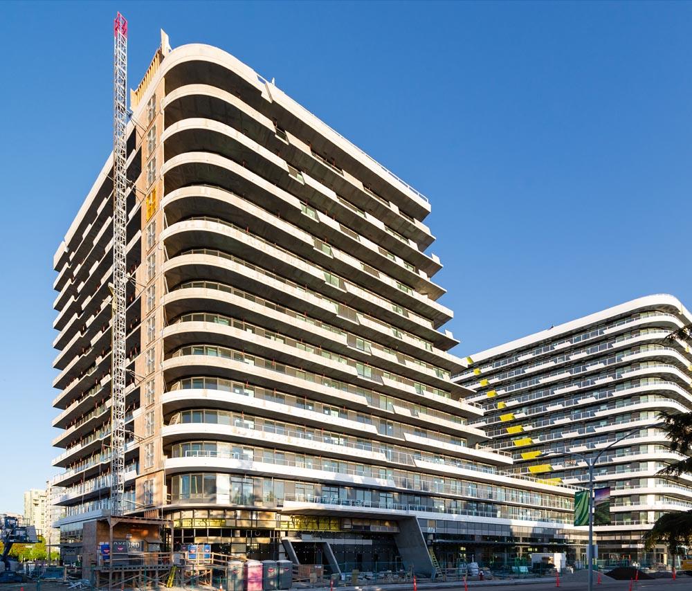 Concrete Residential Tower, Modern Architecture, Architect, Cascade City, Richmond, Residential Tower, Realestate, Landa Global